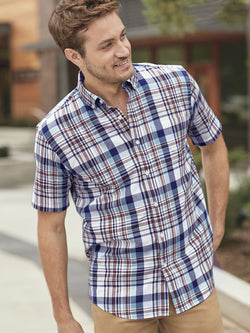 Short Sleeve Madras Shirt in 2 Plaids