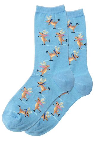 Skating Reindeer Women's Socks