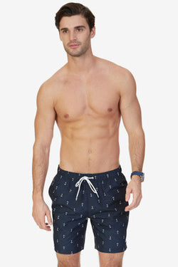 Anchor Print Swim Trunks