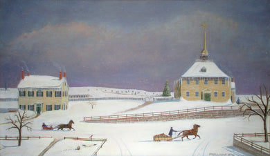 Winter in the North Parish Hingham 1845