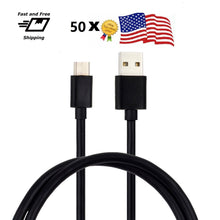 Wholesale Lot of 50 USB Type C Data Charging Cable for New Samsung LG ZTE Nexus