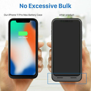 For iPhone X/XR/XS Max Battery Charging Case External Power Bank Back Up Charger
