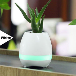 Super Bluetooth Piano FlowerPot (White)
