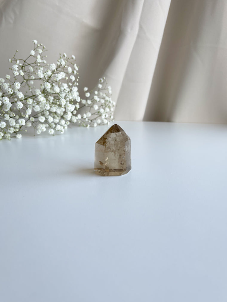Citrine Smoky Polished Tower No. 130