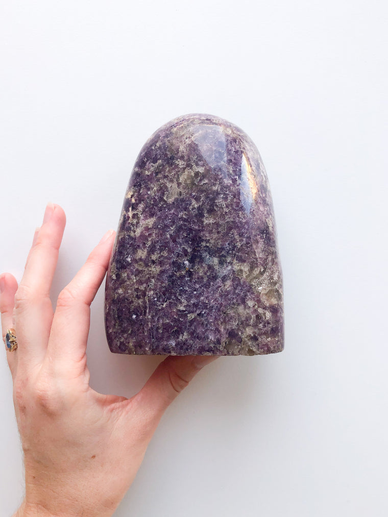 Lepidolite - Standing Polished Free Form Item No. 20