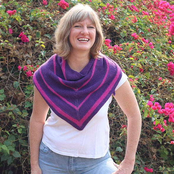 Ewe Ewe Yarns | Summer Berries Shawl Kit