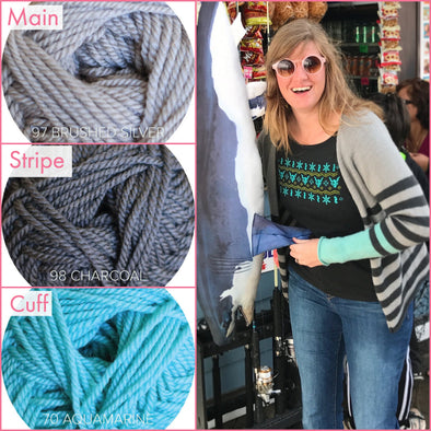 Ewe Ewe Yarns | Sporty Stripe Cardi Kit
