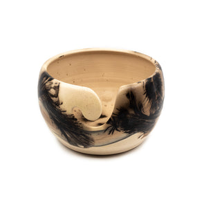 Yarn Bowl Cream Black