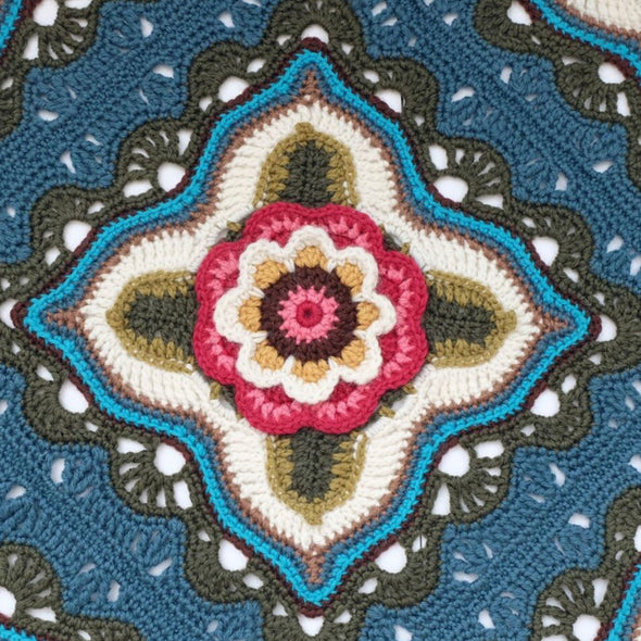 Jane Crowfoot | Indian Roses Crochet Blanket Kit