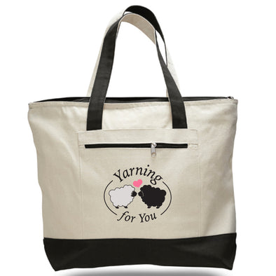 Yarning for You | Canvas Zippered Tote