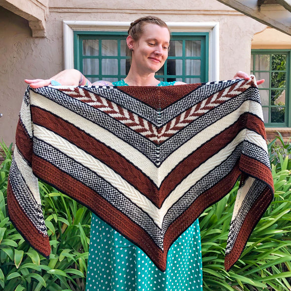 Boho Texture Triangle Shawl | Class & Kit