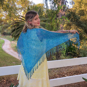 Mary Gavan Yarns | Leslie's Shawl Kit