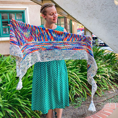 Lazer Sheep | Orchard Village Shawl