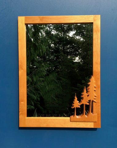 Three Trees Mirror - Soul Sound Woodworks