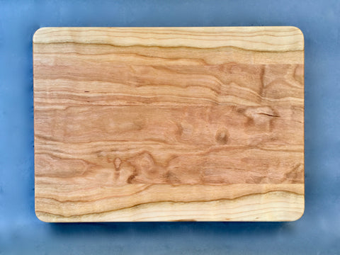 "7/8"" x 10"" x 14"" Cherry Cutting Board - Soul Sound Woodworks"