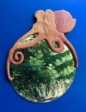 Cherry Octopus Mirror - Soul Sound Woodworks