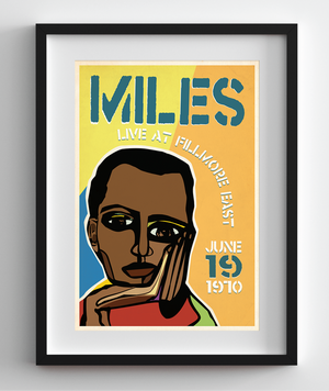 Miles Davis Live at the Fillmore Cubism Print