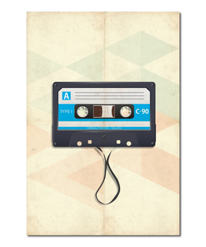 Music Evolution Retro Cassette Print