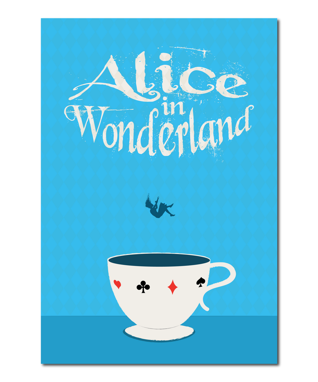 "Original Print Reinterpretation of the classic novel, ""Alice In Wonderland"""