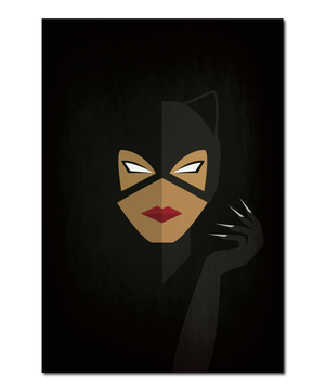 Original Icon Interpretation of Catwoman Print