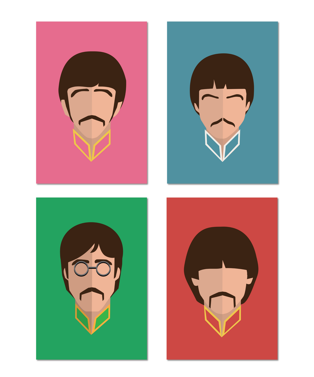 British Invasion Original Icon Print 4 Print Set