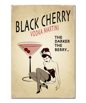 "Original Pin-Up Girl Print, ""Black Cherry"""