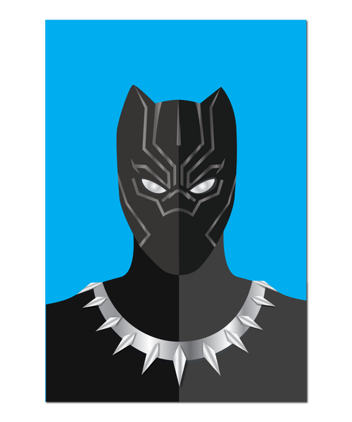 Black Panther Minimalist Interpretation Print