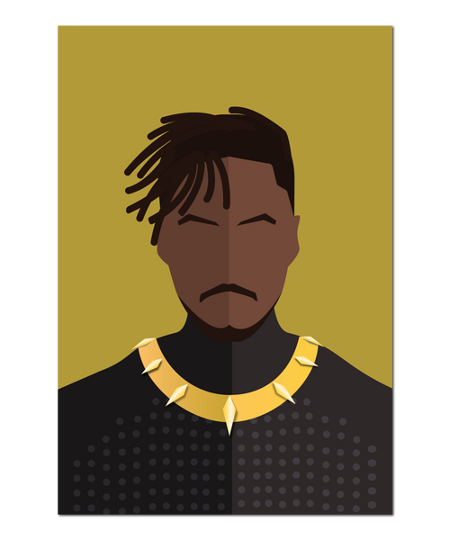 Black Panther, Killmonger Minimalist Interpretation Print