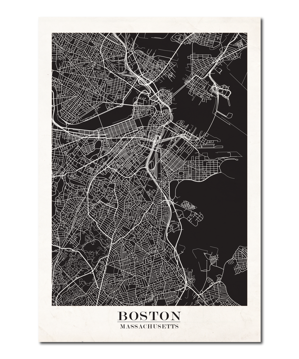 Boston Map Design