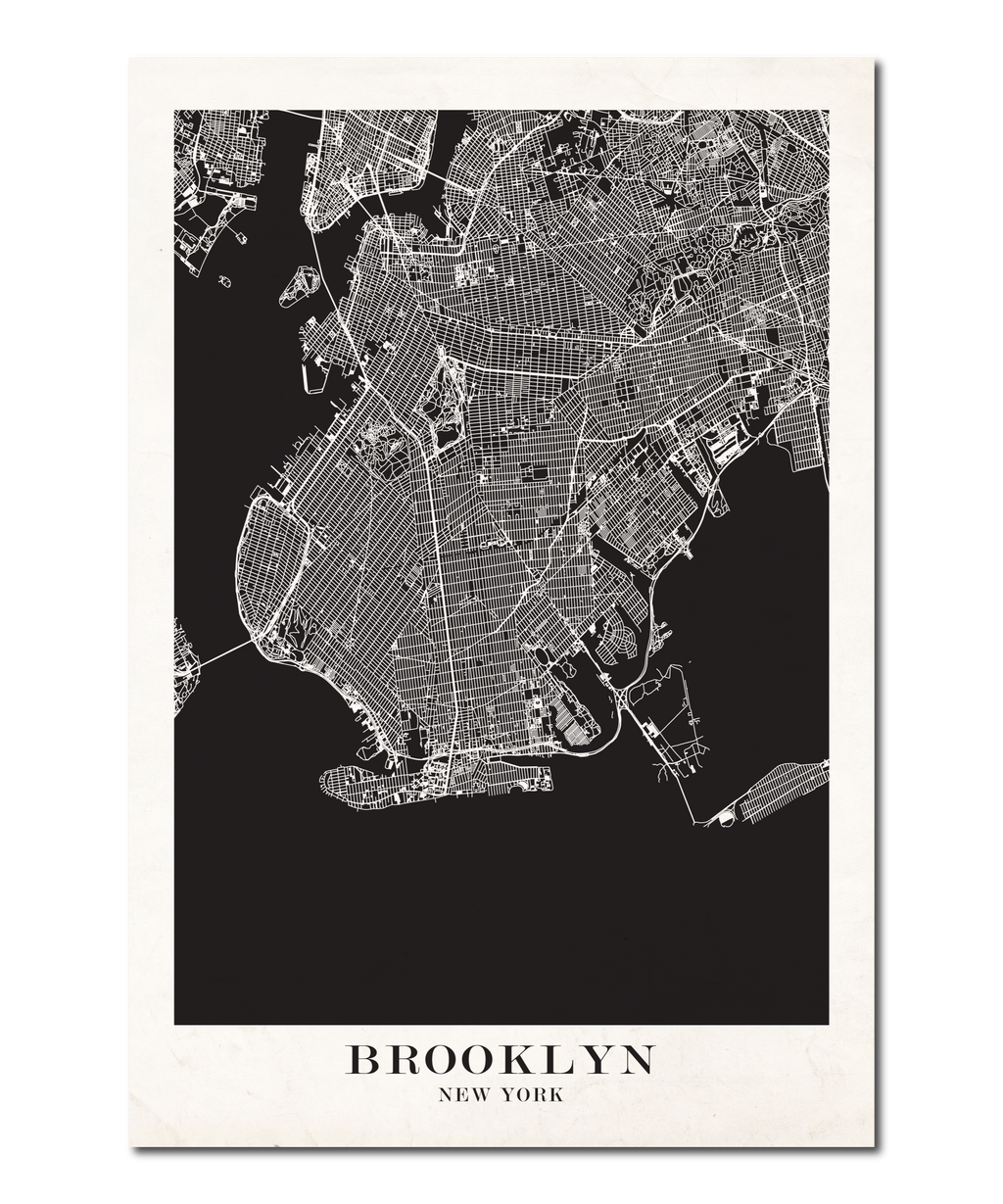 Brooklyn, New York Map Design