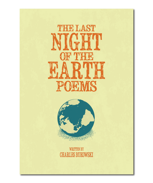 "Original Print Reinterpretation of the Charles Bukowski Book, ""The Last Night of the Earth Poems"""