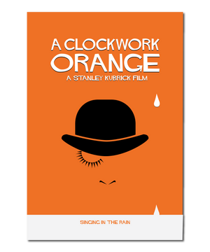 "Original Print Reinterpretation of the classic film, ""A Clockwork Orange"""