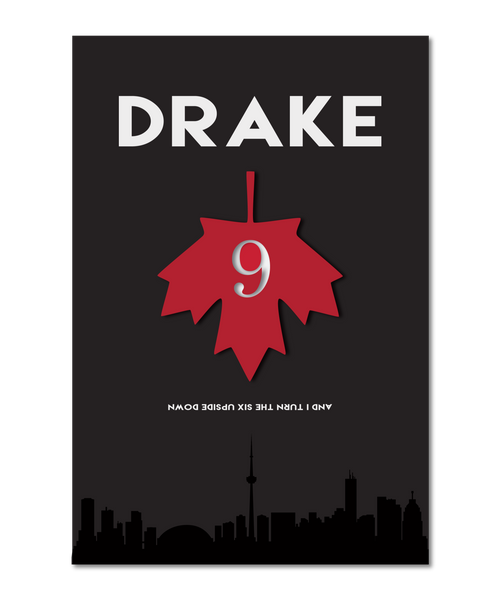 "Drake Poster: Original Interpretation of ""9"""