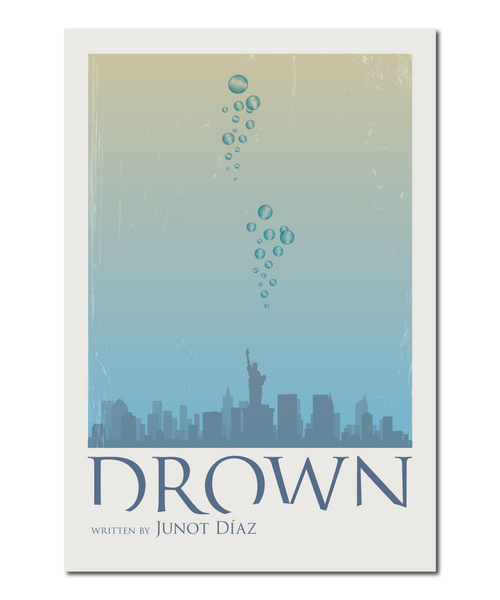 "Original Print Reinterpretation of classic novel, ""Drown"" (by Junot Diaz)"