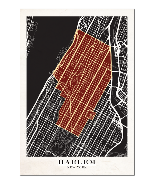 Harlem, New York Map Design