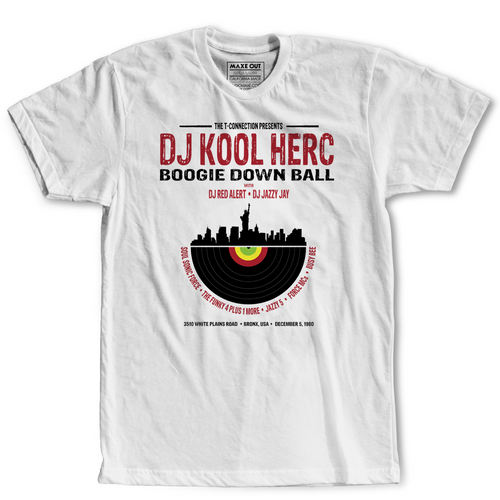 Kool Herc- DJ Series Original Design- White T-Shirt