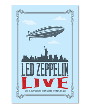 Original Design Concert Print Inspired by Led Zeppelin (NYC)