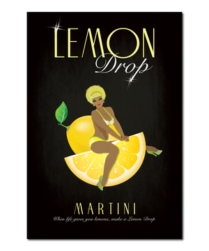 "Original Pin-Up Girl Print, ""Lemon Drop"""