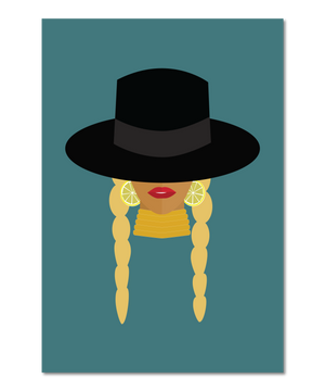 """Getting In Formation"" Original Icon Print"
