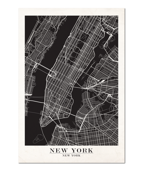 New York Map Design