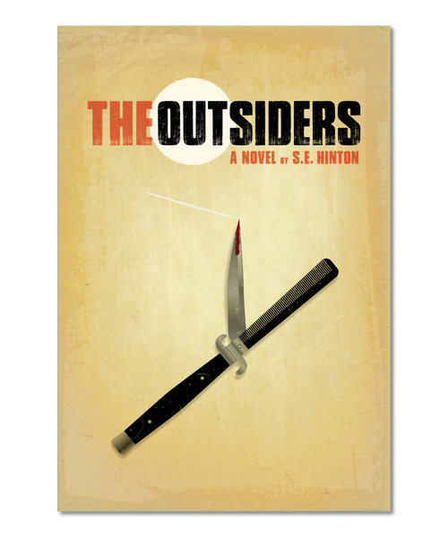 "Original Print Reinterpretation of the classic novel, ""The Outsiders"""