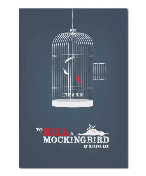 "Original Print Reinterpretation of the classic novel, ""To Kill A Mockingbird"""