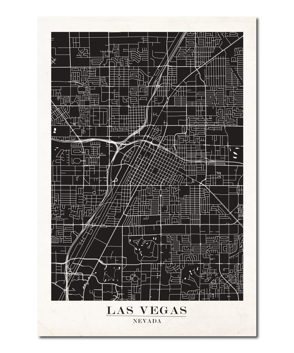 Las Vegas Map Design