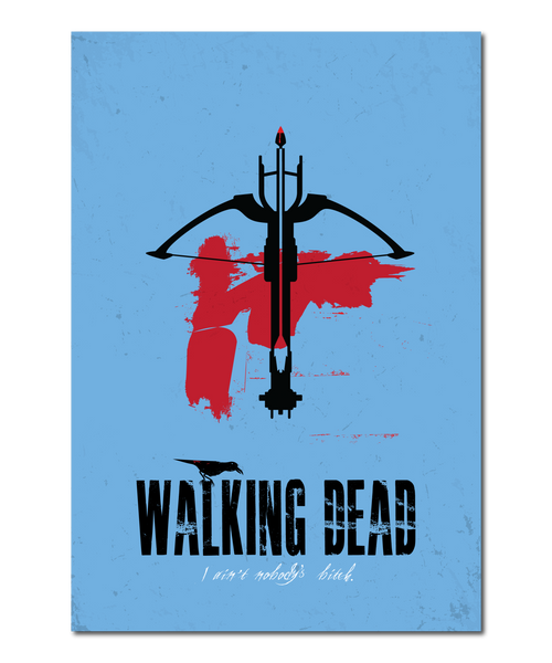 "Original ""The Walking Dead"" Print Reinterpretation based on the Daryl character"