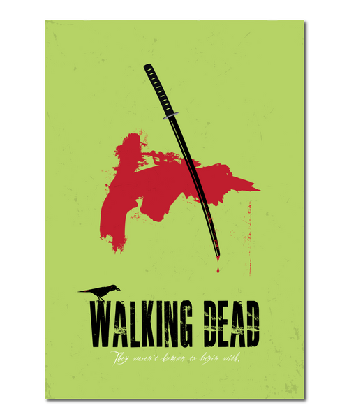 "Original ""The Walking Dead"" Print Reinterpretation based on the Michonne character"