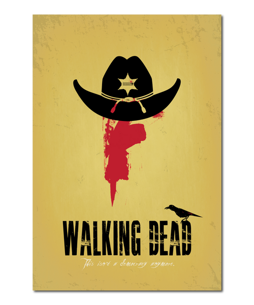 "Original ""The Walking Dead"" Print Reinterpretation based on the Rick Grimes character"