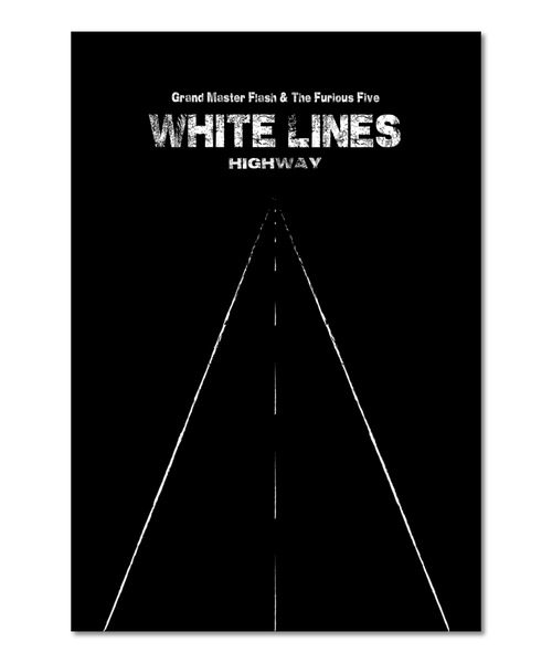 "Original Print Inspired by Grand Master Flash's ""White Lines"""