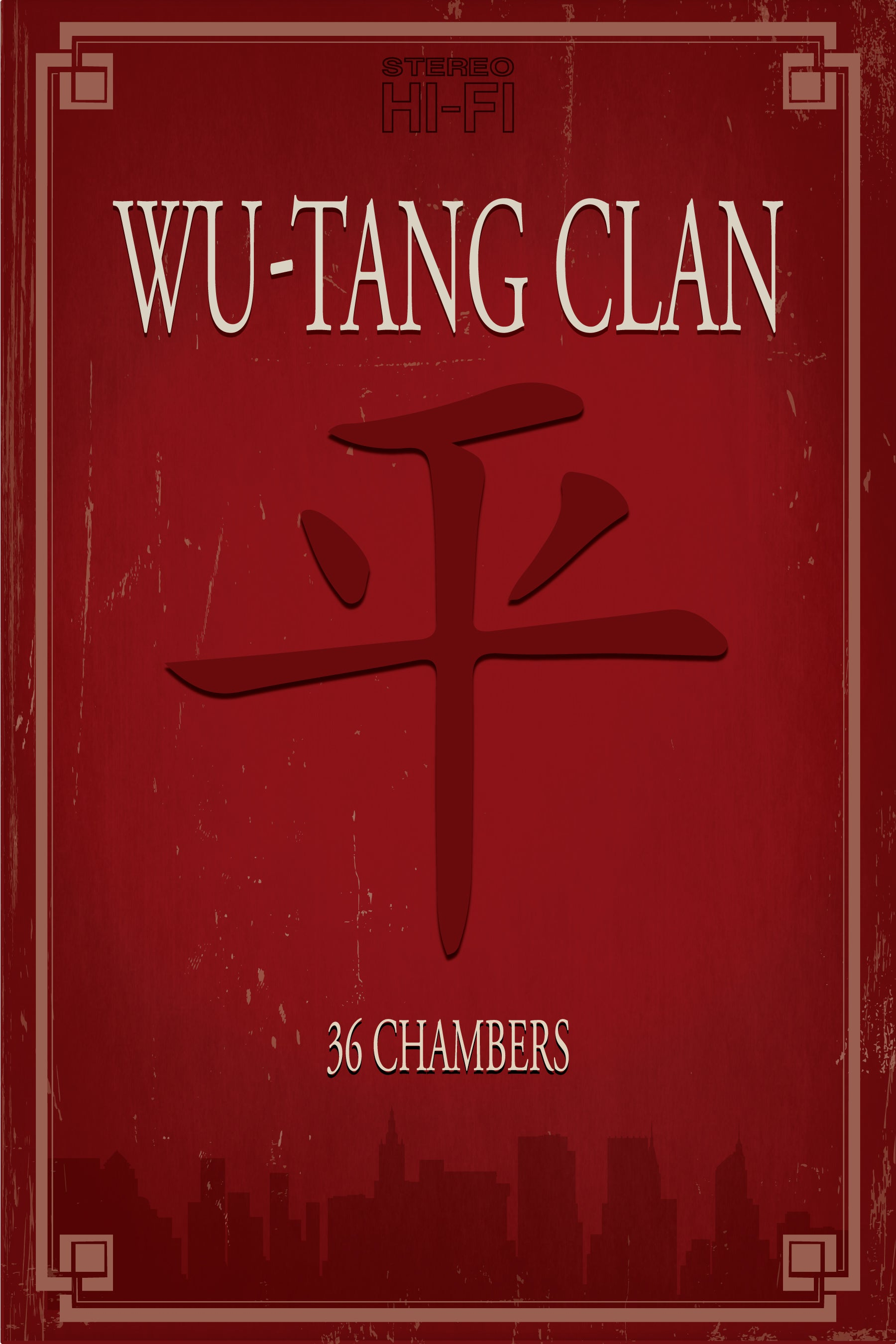 "Original Print Inspired by Wu-Tang Clan, ""36 Chambers"" (Version Two)"