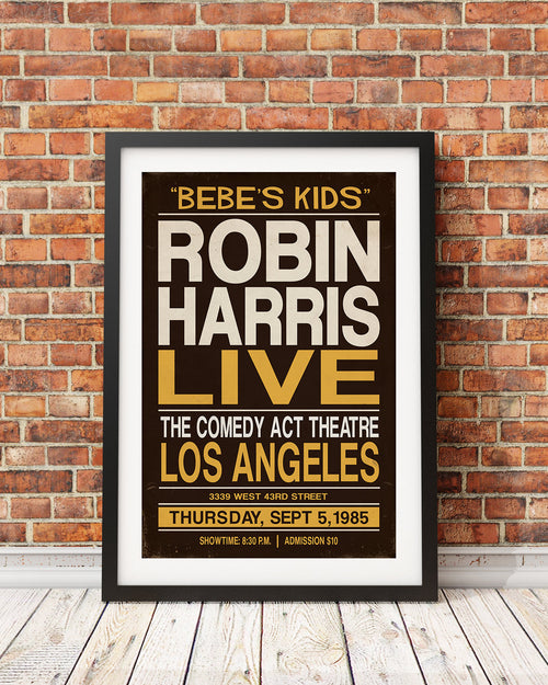 Robin Harris Stand-Up Event Poster (Black Comedy Series Original Design)