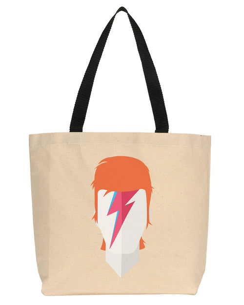 David Bowie Minimalist Icon Canvas Tote